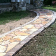 Multi-Patterned Stone Pathway
